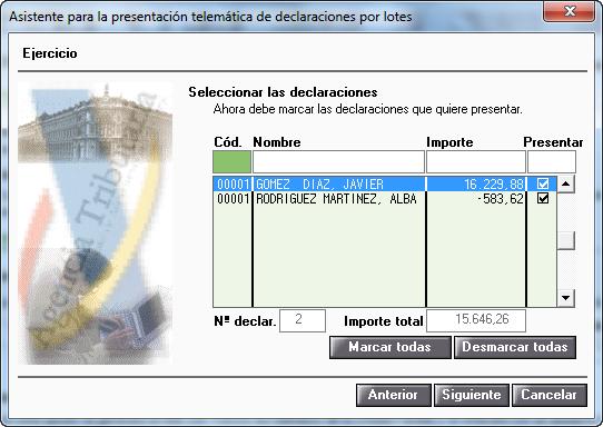 Asistente para la presentación telemática de declaraciones por lotes 2