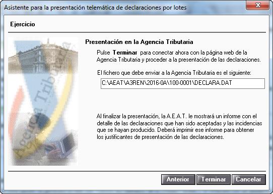 Asistente para la presentacion telematica de declaraciones por lotes 3