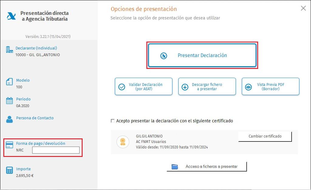 PDA Presentacion con adeudo en cuenta NRC