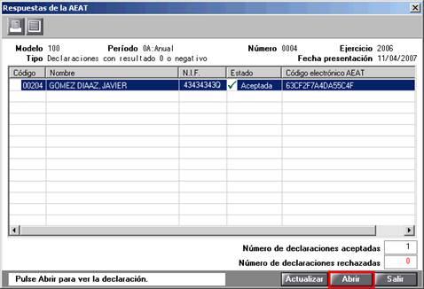 Respuestas de AEAT