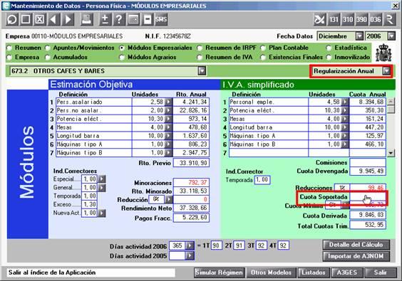 Regularización Anual en Módulos Empresariales