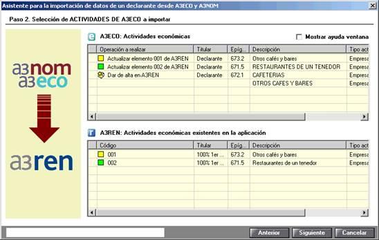 Asistente para la importacion de datos de un declarante desde a3eco y a3nom