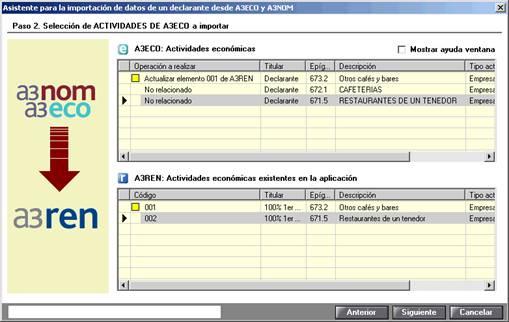 Asistente para la importación de datos de un declarante desde a3eco y a3nom