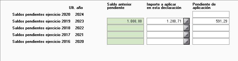 Compensaciones pendientes mantenimiento