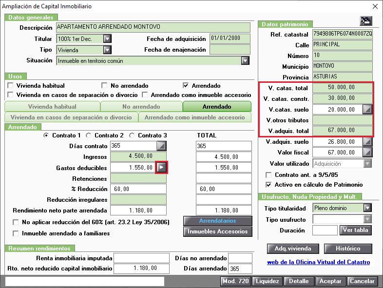 IA Gastos deducibles Acceso calculo Amortizacion