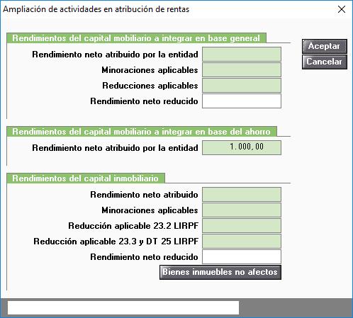 Ampliación de actividades en Atribuciones de Rentas