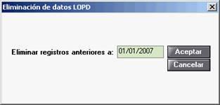 Eliminación de datos LOPD
