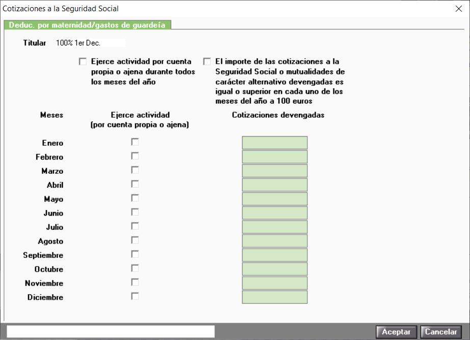 DM Cotizaciones a la Seguridad Social
