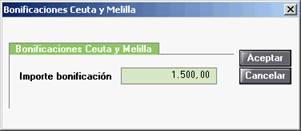 Bonificaciones Ceuta y Melilla