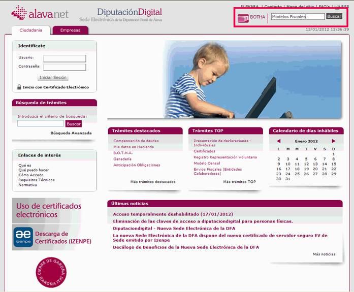 Sede Electrónica de la Diputación Foral de Álava