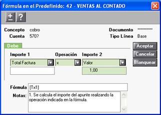 Fórmula Predefinida