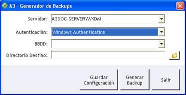 A3 - Generador de Backups