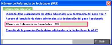 Número de Referencia de Sociedades (NRS)