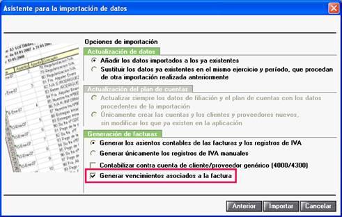 Asistente para la importación de datos