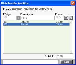 distribución Analítica
