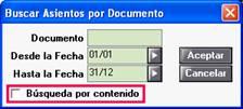 Buscar Asientos por Documentos