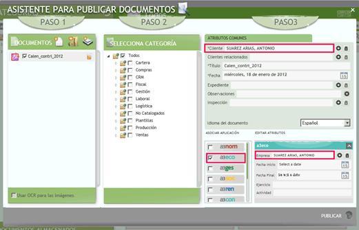 asistente de publicación despliegue automático al asociar aplicación