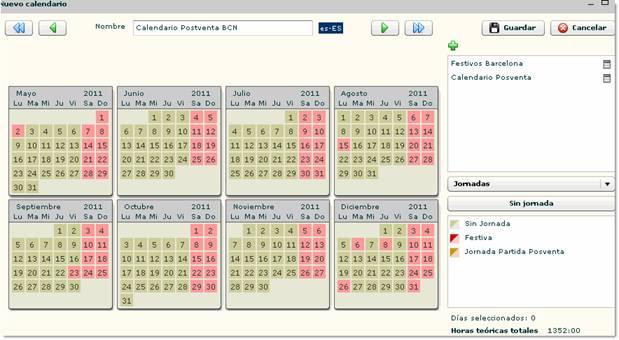 calendario generado