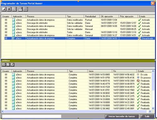 Programador de tareas Portal Asesor
