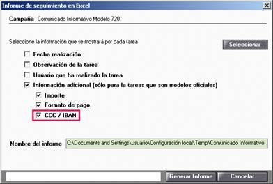 Informe de seguimiento en Excel