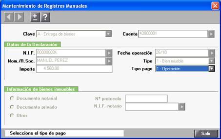 Mantenimeinto de Registros Manuales