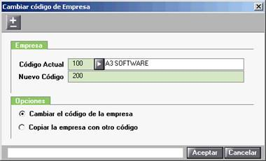 CAmbiar código de empresa