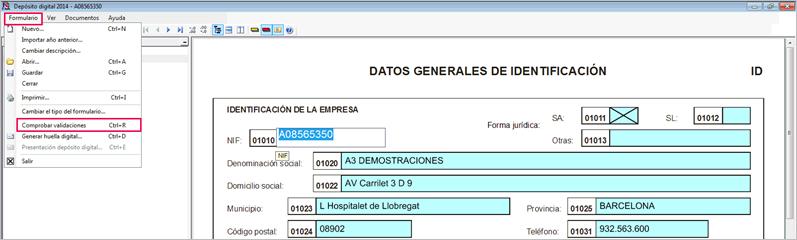 D2 validar datos
