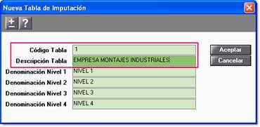 Nueva tabla imputación