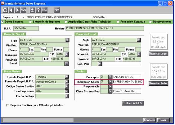 Código nueva tabla imputación