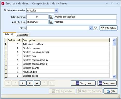 Compactación de ficheros