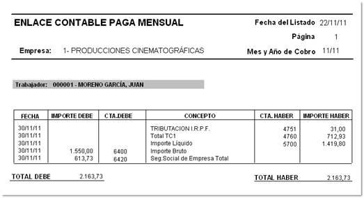 enlace contable paga mensual
