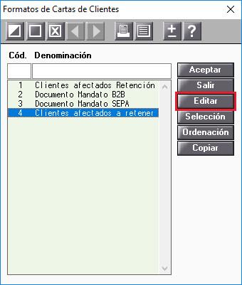Formatos de Cartas de Clientes Editar