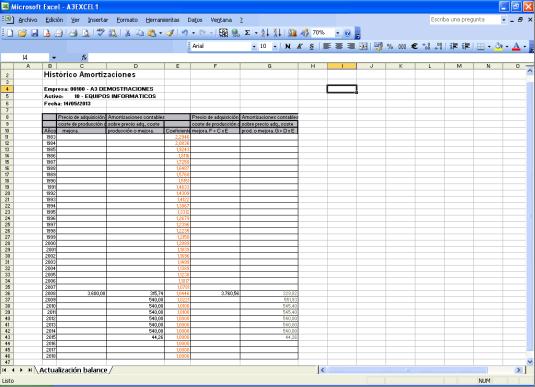 Listado Excel