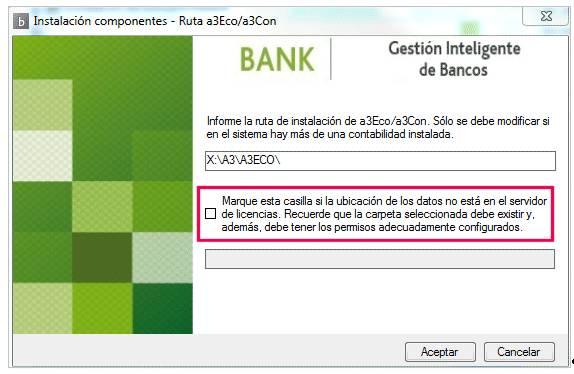 Instalación a3ASESOR | bank