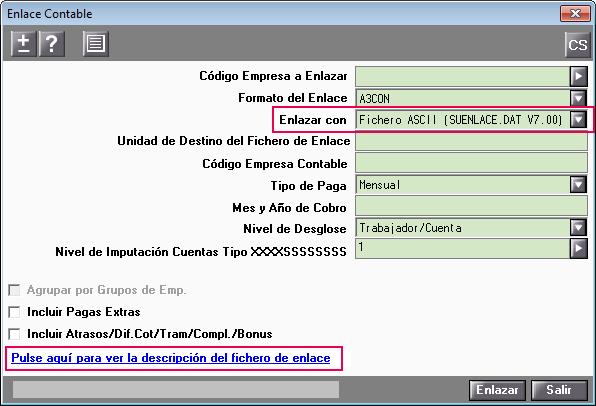 Enlace Contable con Fichero ASCII