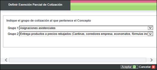 exencion parcial cotizacion