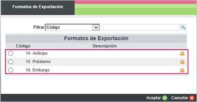 formato de exportacion