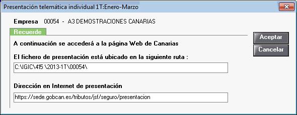 Presentación telemática