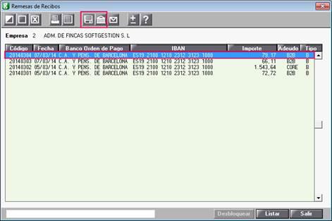 Generar diskette o banca eletrónica