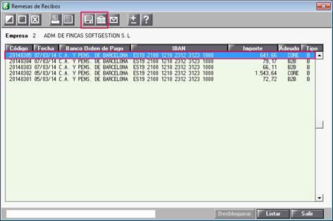 Generar diskette o banca electrónica