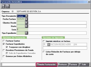 facturación automática