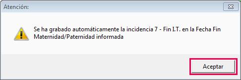 mensaje incidencia 7