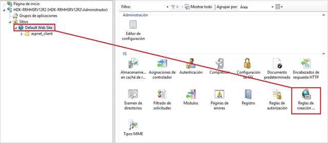 default web