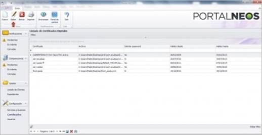 Editar Certificados Digitales