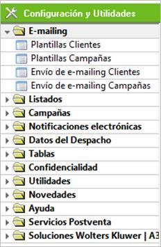 Configuración y utilidades
