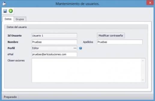 Editar Datos de Usuario