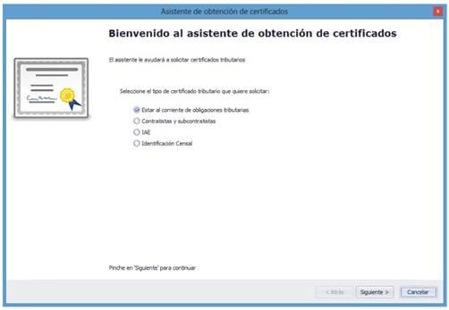 Asistente de Obtención de Certificados