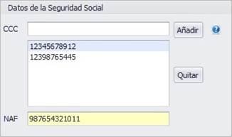 Datos de la Seguridad Social