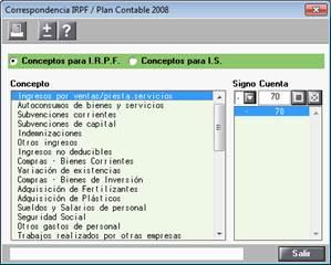 Correspondencia IRPF