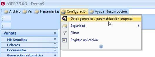 Datos parametrización